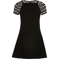 Girls black 2 in 1 dress