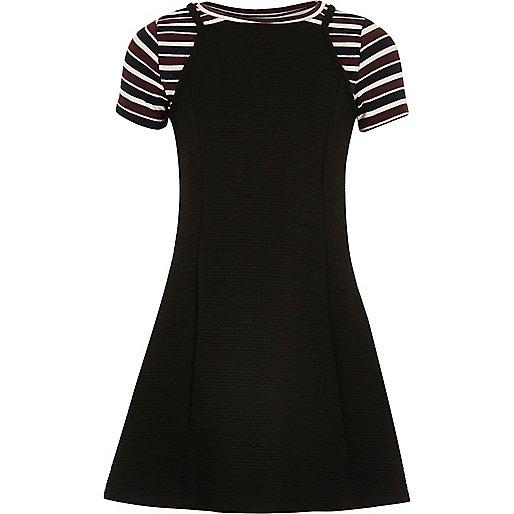 Schwarzes 2-in-1-Kleid