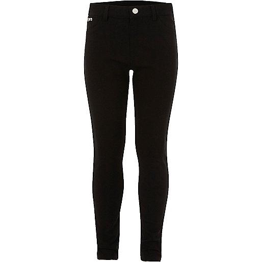 Pantalon skinny noir pour fille