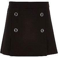 Jupe plissée noire style militaire pour fille