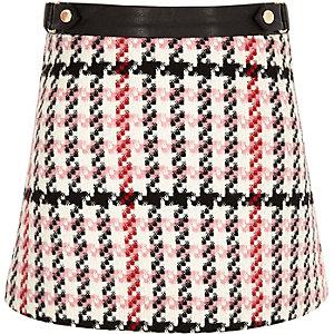 Girls pink print A-line skirt