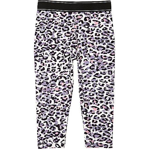 Pinke Leggings mit Leopardenmuster