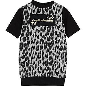 Robe t-shirt à imprimé léopard mini fille