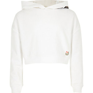 Girls RI Active white 'Dance' sports hoodie