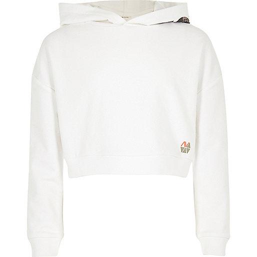 Girls RI Active white 'Dance' sports hoodie