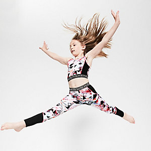 Girls RI Active print sports leggings
