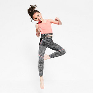 Girls RI Active grey marl sports leggings
