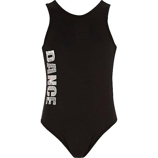 Girls RI Active black 'Dance' bodysuit