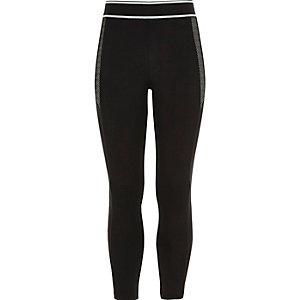 Girls sporty black leggings