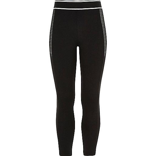 Sportliche, schwarze Leggings