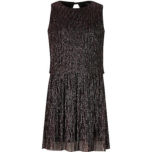 Lilanes, doppellagiges Kleid mit Plisseefalten