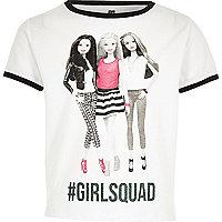Girls white Barbie squad T-shirt