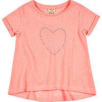 Mini girls pink swing t-shirt