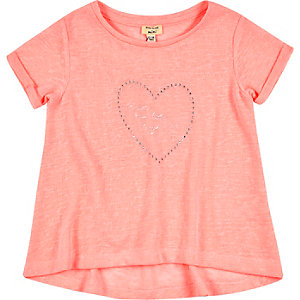 Mini girls pink swing t-shirt