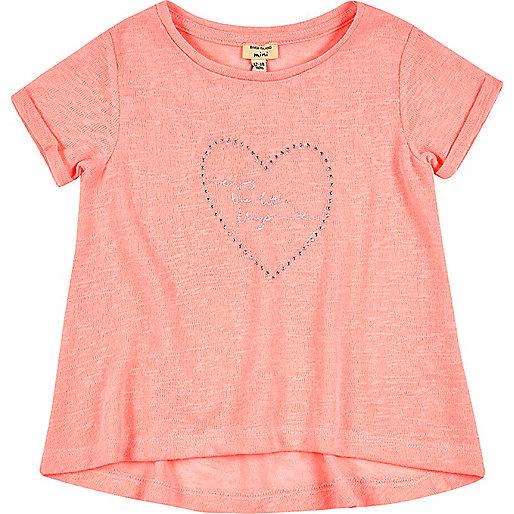 T-shirt rose évasé mini fille
