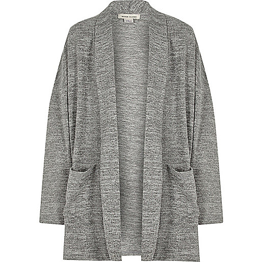 Girls grey slouchy cardigan