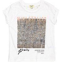 Graues T-Shirt mit Folienprint