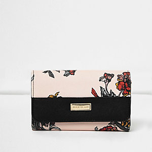Girls floral large trifold purse