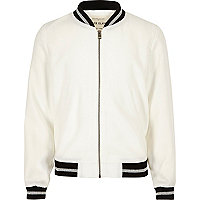 Girls white bomber jacket