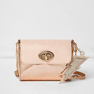 Girls pink square lightning bag