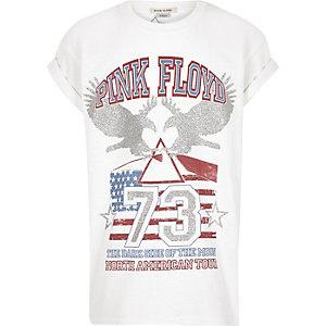 T-shirt 'Pink Floyd' blanc pour fille