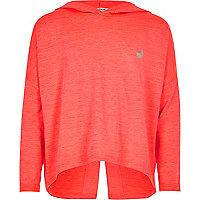 Girls RI Active pink marl sports hoodie