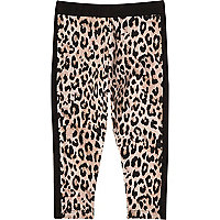 Leggings imprimé animal jaune pour mini fille