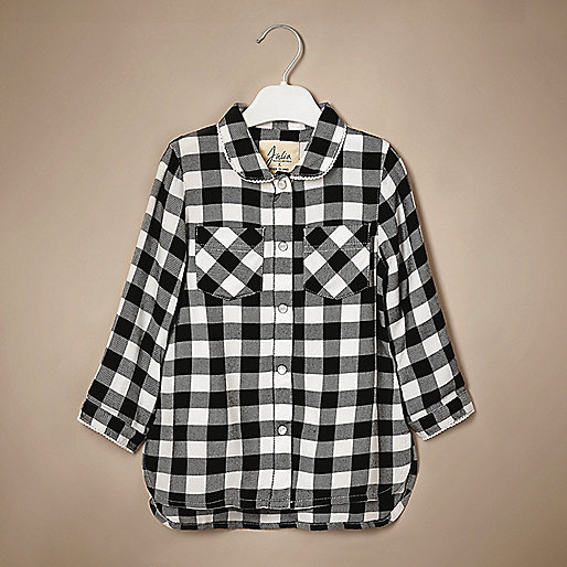 Mini girls gingham shirt