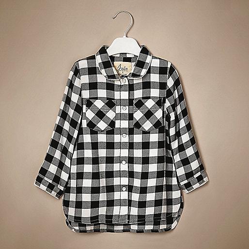 Chemise à carreaux Vichy mini fille