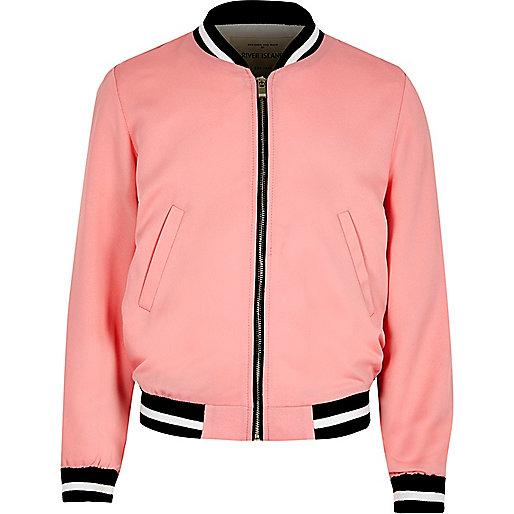 Girls pink bomber jacket