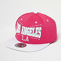 Girls pink LA cap