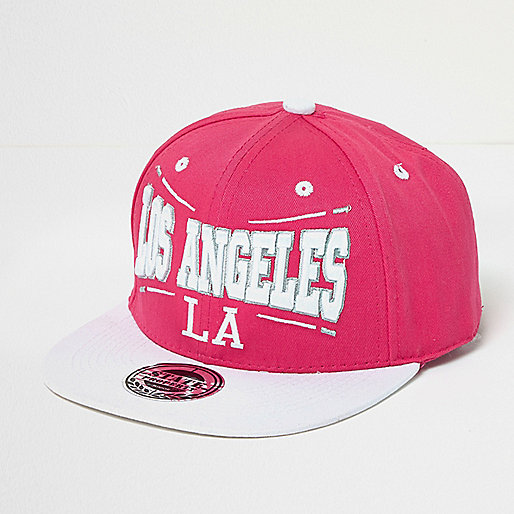 Girls pink LA cap