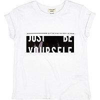 T-shirt imprimé Newlife blanc mini fille