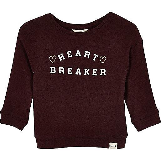 Sweatshirt in Bordeaux