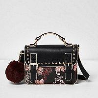 Girls pink scarf print satchel bag