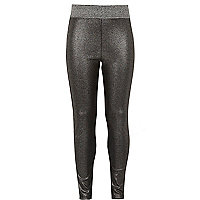 Leggings in Silber-Metallic