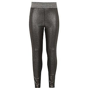 Girls silver metallic legging
