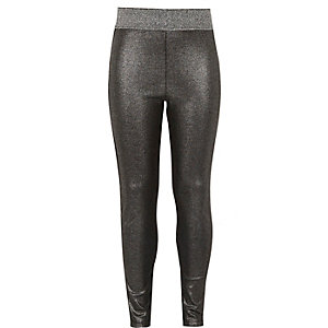 Girls silver metallic legging