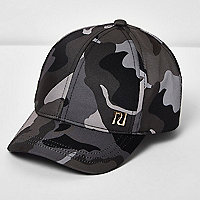 Mini girls grey camo cap