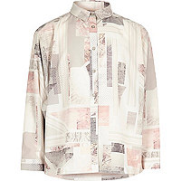 Girls pink marble print shirt