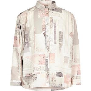 Pinkes meliertes Hemd