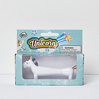 Girls white unicorn pen