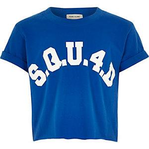 T-shirt court bleu squ4d pour fille