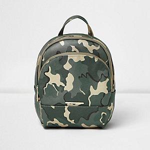 Grüner Camouflage-Rucksack