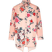 Girls pink print shirt
