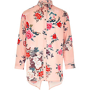 Bedrucktes Hemd in Pink