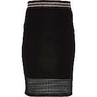 Girls black mesh tube skirt