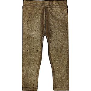Leggings in Gold-Metallic