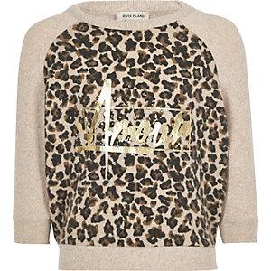Sweatshirt in Leoprint-Metallic