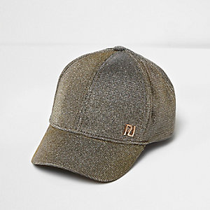 Girls silver branded cap